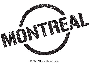 Montreal stamp. Montreal grunge round isolated sign