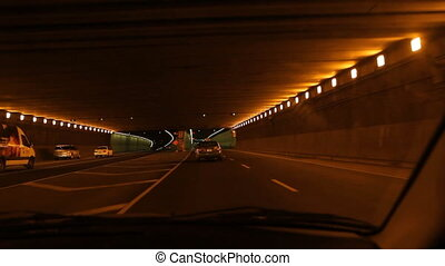 Montreal timelapse tunnel.