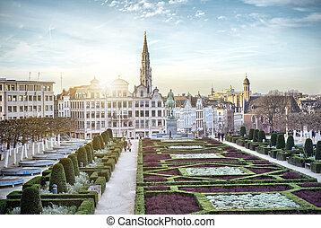 Monts des Arts in Brussels, Belgium