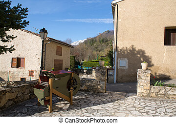 Montsegur village in French Pyrenees