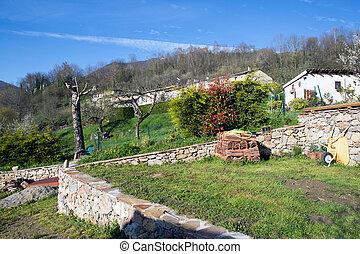 Montsegur village in French Pyrenees