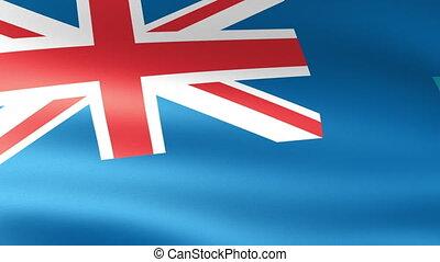 Montserrat Flag Waving