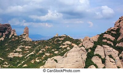 Montserrat mountain panorama.