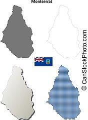 Montserrat outline map set