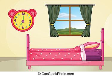 monture, chambre à coucher
