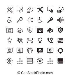 monture, icônes