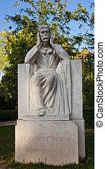 Monument (1934) to Ernest Reyer. Park Longchamp, Marseilles...