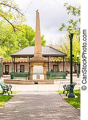 Monument at Santa Fe Plaza, New Mexico