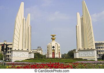 monument, de, démocratie, dans, bangkok
