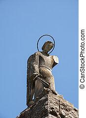monument, de, une, ange