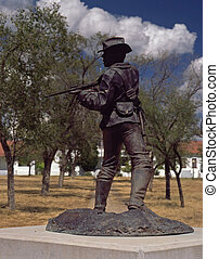 Monument, Fort Bayard - Monument to Buffalo Soldiers who...