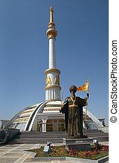 Monument historical figure Turkmenistan.