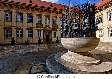 Monument in New Town Hall in Brno.