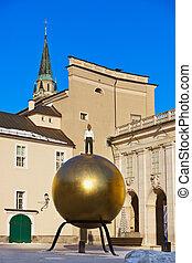 Monument in Salzburg Austria