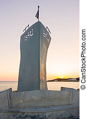 monument in Tinos Island, Greece