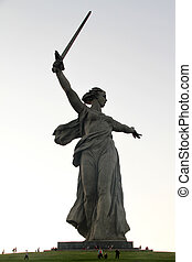 Monument Motherland - Memorial Motherland with sword and ...