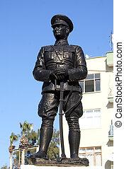 Monument of Ataturk on the square in Silifke, Turkey