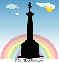 monument of Belgrade winner vector silhouette