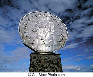 Big Nickel - Monument of Big Nickel in Sudbury, Ontario,...