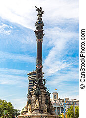 Monument of Christopher Columbus in Barcelona