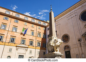 Monument of Elephant in Rome