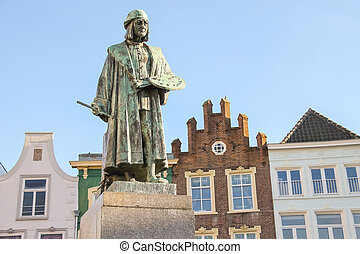 Monument of famous painter Hieronymus Bosch in s-...