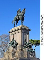 monument of Giuseppe Garibaldi at the Janiculum Hill, Rome...