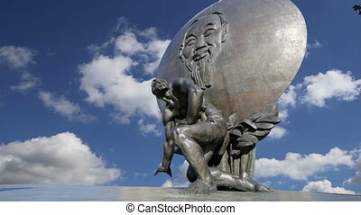monument of Ho Chi Minh.Moscow - The monument of Ho Chi Minh...
