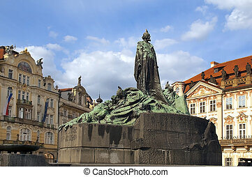 monument of Jan Hus in Prague