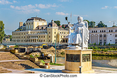 Monument of Justinian I in Skopje - Macedonia