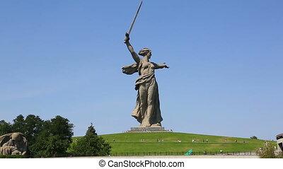 monument of Motherland Calls in Volgograd - monument of...