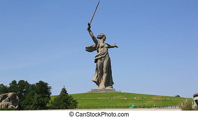 monument of Motherland Calls in Volgograd - monument of...