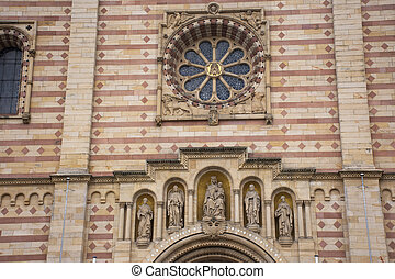 Monument of Speyer cathedral at Speyer town in Rhineland...
