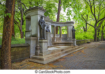 Monument in Central Park of New York