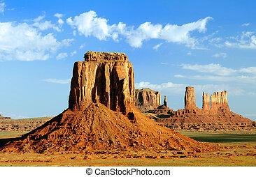 monument, point, artist's, navajo, tribal, vallée, park.