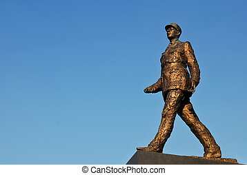 Charles de Gaulle - Monument sculpture of french general...