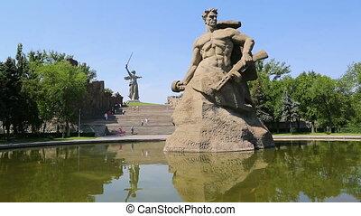 Monument Stay to Death in Mamaev Kurgan, Volgograd, Russia