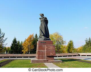 "Monument \""Orlenok\"" in \""Aloe pole\"" square - Chtlyabinsk"