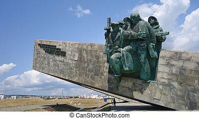 monument, till, tjäna som soldat
