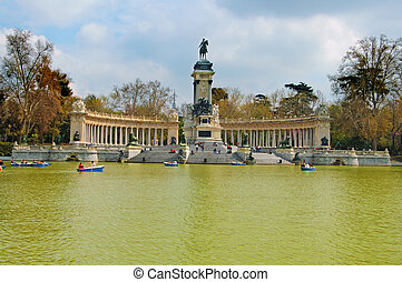Monument to Alfonso XII in Parque del Retiro, Madrid -...