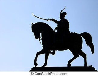Monument to Ban Jelacic, silhouette - Monument to Ban...