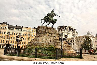 Monument to Bohdan Khmelnytsky in Kiev