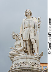Monument to Christopher Columbus in Genoa
