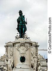 statue of victor emmanuel ii in krakow, beautiful photo digital picture