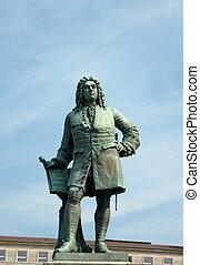 Monument to George Frideric Handel, Halle (Saale), Germany -...