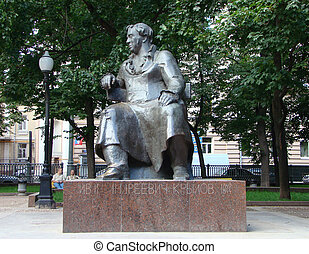 Monument to Krylov Ivan Andreevichu to the fabulist, the writer