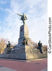 Monument to Lenin in city Sevastopol
