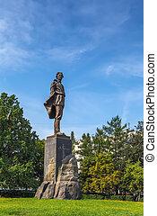 Monument to the writer Maxim Gorky in Nizhny Novgorod, Russia
