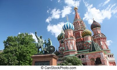 Monument to Minin and Pozharsky is a bronze statue on Red Square of Moscow right in front of Saint Basil's Cathedral