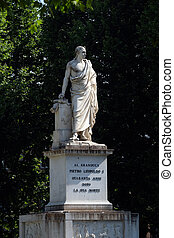 Monument to Pietro Leopoldo in Piazza Martiri della Liberta of Pisa, Italy